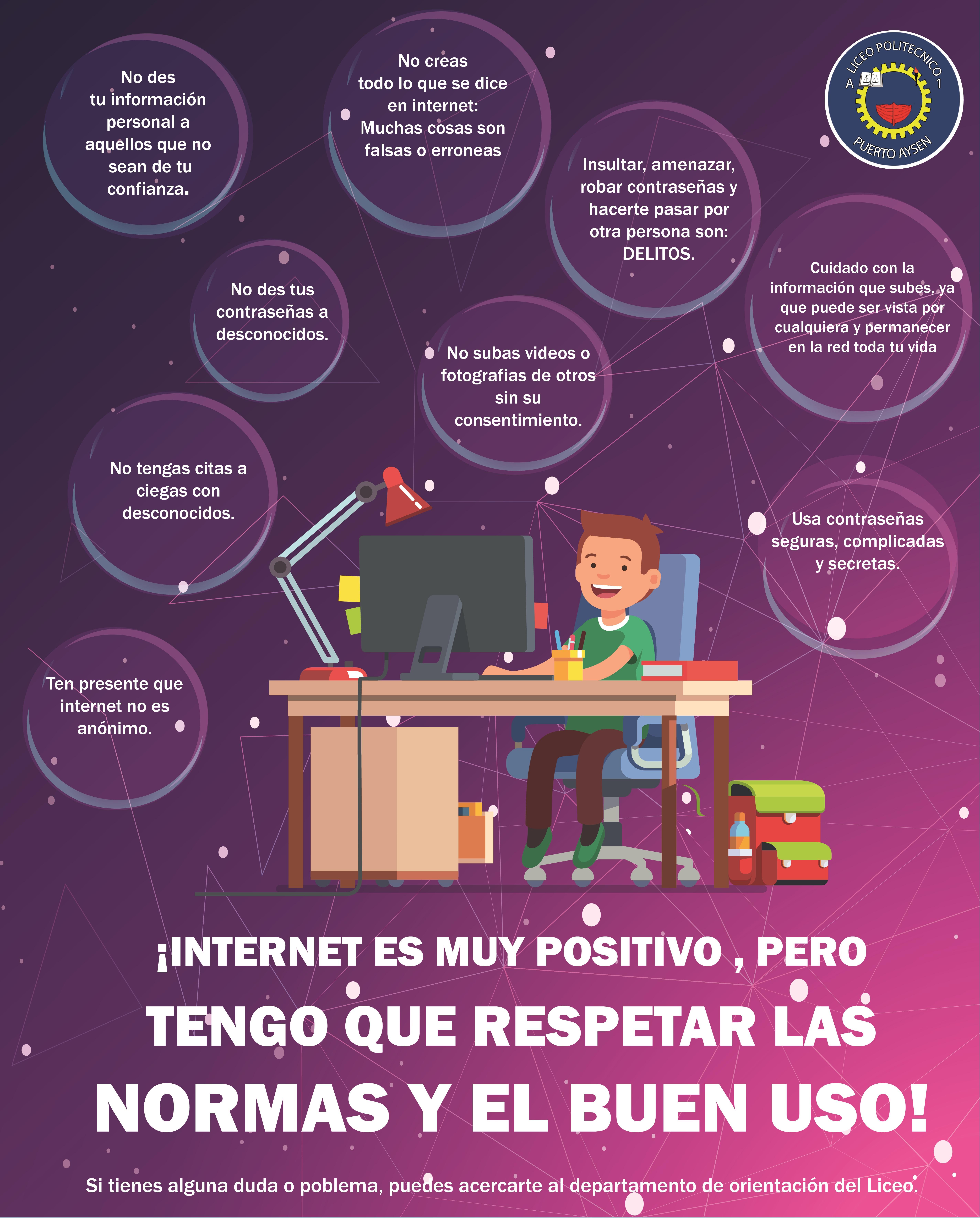 Uso seguro de la Internet